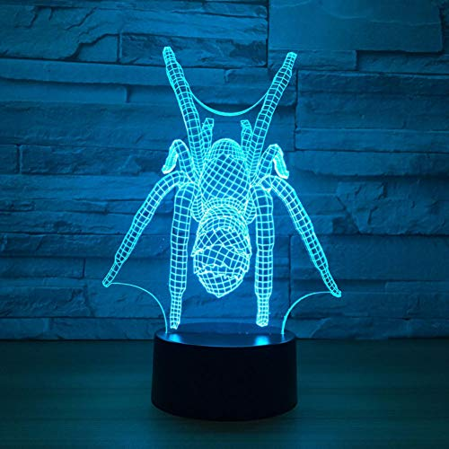 HIOJDWA Night Light 3D Led Touch Switch Home Decor Bedroom Creative Tarantulas Modelling Desk Lamp Spider Nightlights Light Fixtures Gifts (Tarantula Desk Decoration)