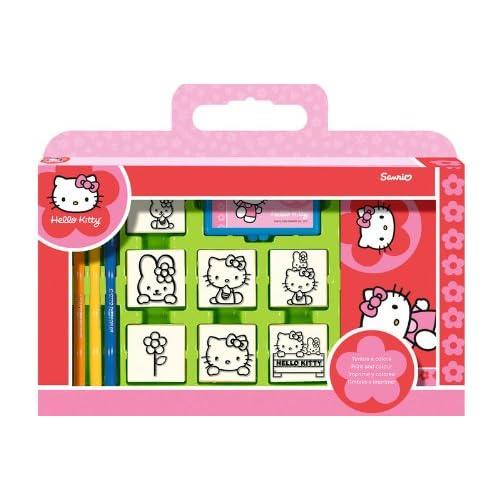 Multiprint - 7803 - Loisirs Creatif - Valisette 7 Tampons - Hello Kitty