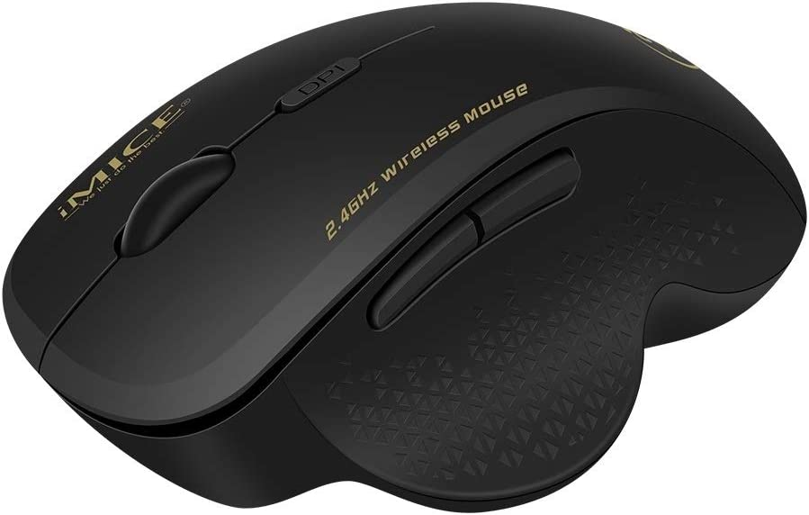 Color : Grey G6 Wireless Mouse 2.4G Office Mouse 6-Button Gaming Mouse
