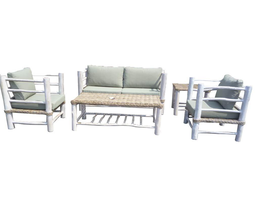 Amazon.de: Landwood Furniture Sitzgruppe Sebarang, Gartenmöbel ...