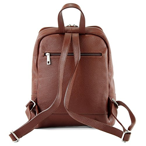 Modamoda Rucksack Brown T138 Ladies Leather De Citybag Backpack Bag Ital wqgPAwW4