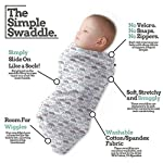 Henry-Hunter-Baby-Swaddle-Cocoon-Sack-The-Simple-Swaddle-Soft-Stretchy-Comfortable-Cotton-Receiving-Blanket-for-Infants-Newborns-0-3-Months-Cloud-Moon-Light-Heather