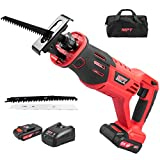 MPT MCRS2105 21V Cordless Li-ion Reciprocating Saw with Fast Charger,Tool-free Blade Change and Two Saw Blades Tool Bag
