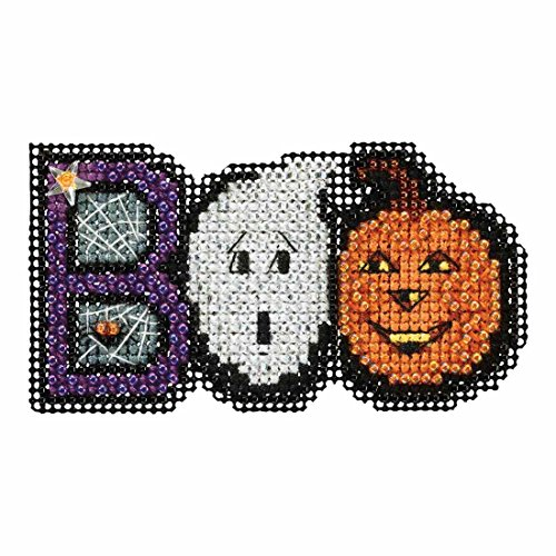 Boo Beaded Counted Cross Stitch Ornament Kit Mill Hill 2017 Autumn Harvest MH181722