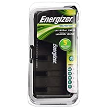 Energizer CHFCV Universal Value Charger, Charges AA/AAA/C/D/9V Rechargeable Batteries