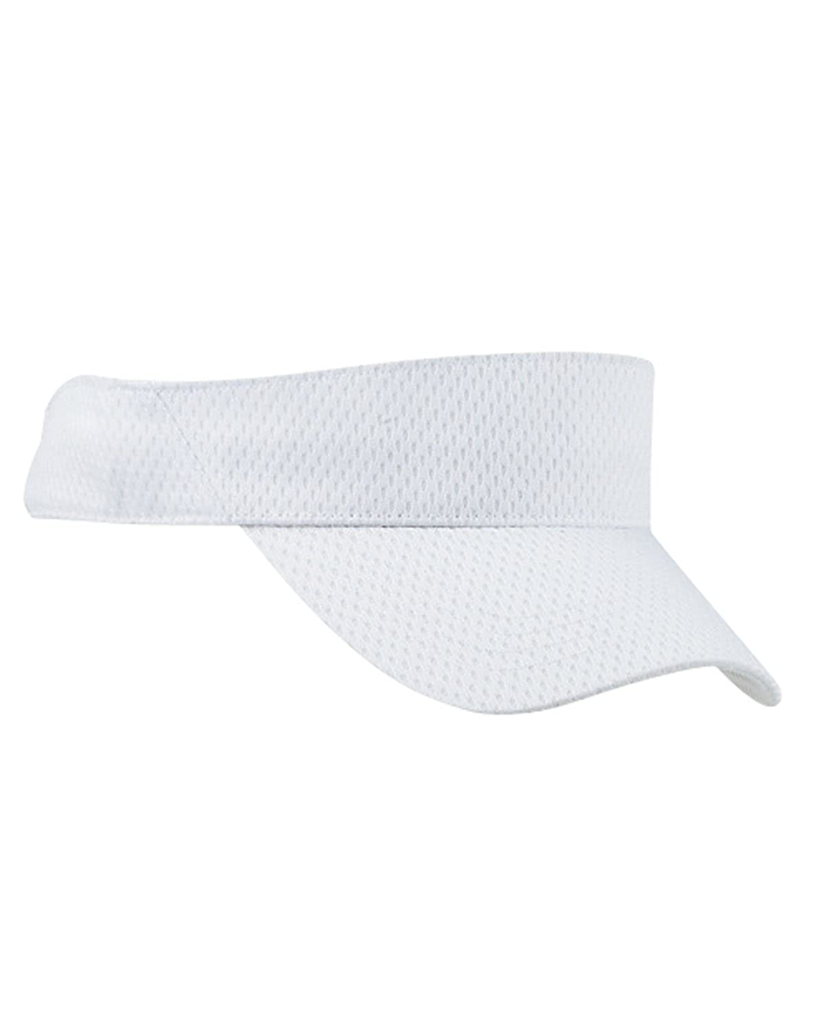 OS - Instant Savings of 5/% /& More Product of Brand Big Accessories Sport Visor with Mesh White