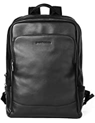 Sharkborough Mens Backpack Genuine Leather Business Travel Bag Extra Capacity