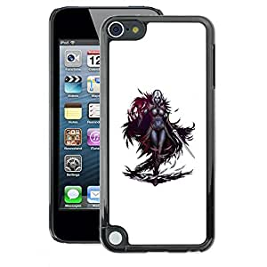 A-type Arte & diseño plástico duro Fundas Cover Cubre Hard Case Cover para Apple iPod Touch 5 (Swordsman Game Character White Woman)