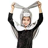 Animal Dress Up Costume Cloak Cape for Kids (4-6Y,Rabbit)