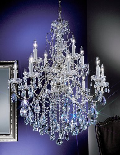 Classic Lighting 8399 CH S Daniele, Crystal, Chandelier, Chrome ()