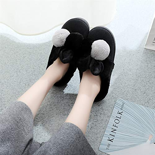 Winter Indoor Orecchie Slip on 1 Casa Donna Palla amp; Outdoor rosa Coniglio Cartoon Scarpe Da Comode Night Pantofole Wall tInwqUxZX
