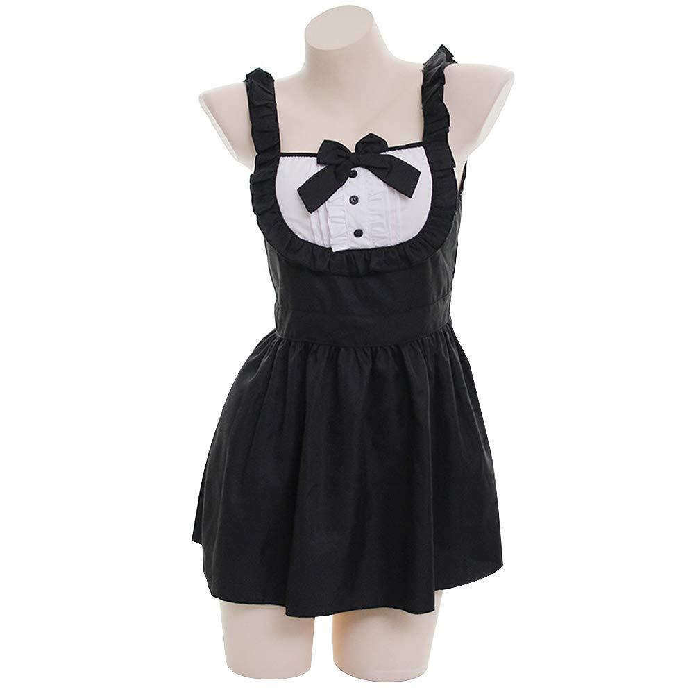 Amazon.com: YOMORIO Lolita Cute Maid Dress Japanese Lingerie Vintage Gothic  French Maid Uniform Cosplay Costume: Clothing