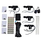 12V Four Actuator Motor Vehicle Door Central Lock with Remote Control Keyless Entry Locking Car Safety Tool Kit