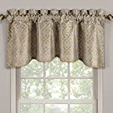Halifax Taupe Valance, Scalloped Decorative Rope Embroidered Lined Valance, 50×19 inches, by Royal Hotel For Sale