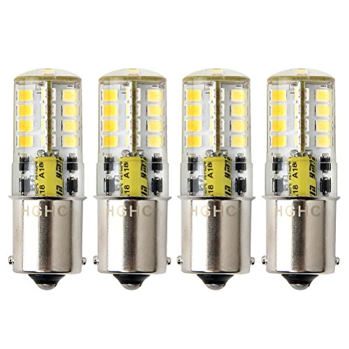 Led BA15s Bulb 12V AC/DC 1156 1141 S8 Single Contact Base, Waterproof Lamp, 5 Watt Cool White 6000K 500LM for Boat, RV, Auto Car, Outdoor Landscape Lighting etc (Pack of 4) 1156 Led 12v Bulb