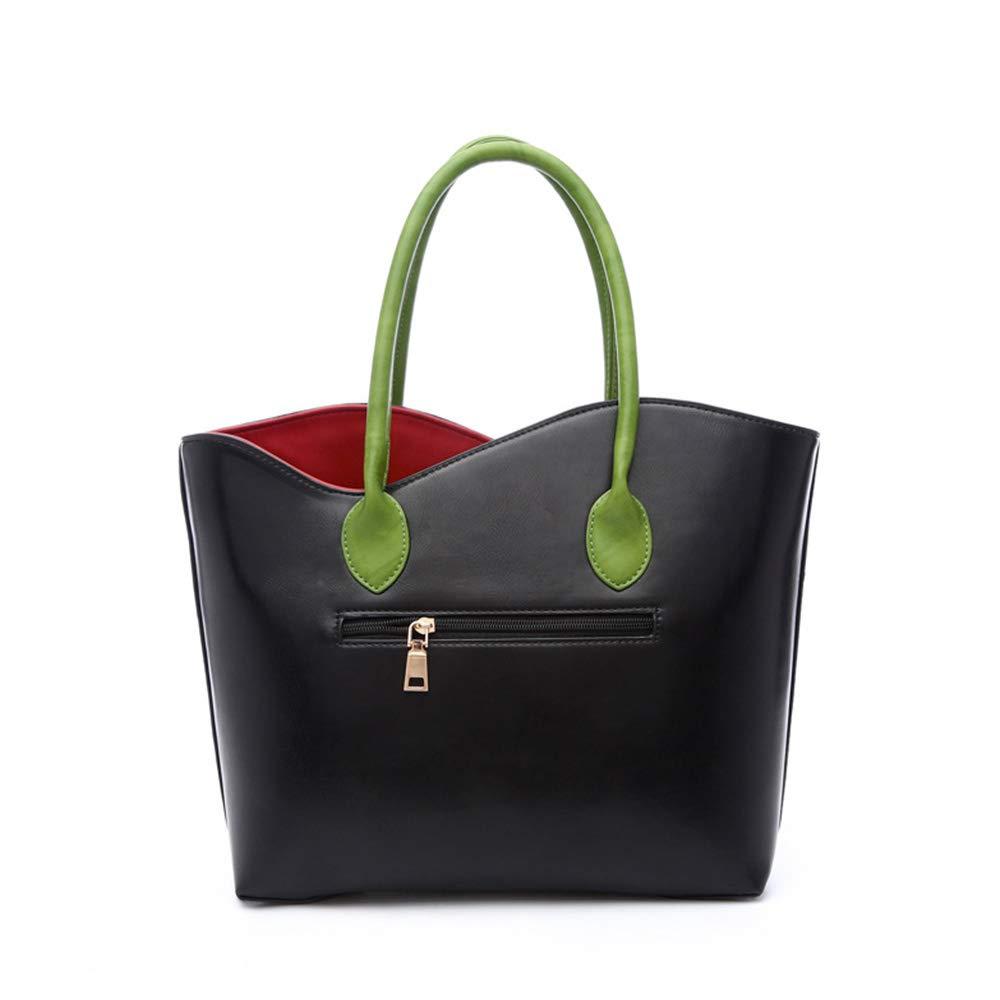 PU-läder handväska dam ros aftonväskor och clutches för kvinnor läderväska blomma handväska 3D blomma med vävda handtag väskor av dubaobei Svart