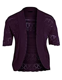 New Womens Crochet Knit Cardigans Fishnet Bolero Tops