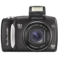 Canon Powershot SX120 IS 10MP Digital Camera (Black) Overview Review Image