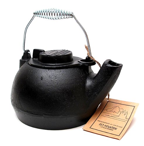 Iwgac Fry Saute Grill Roast Old Mountain Cast Iron Pre-seasoned Tea Kettle