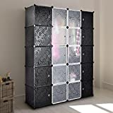 Multi Use DIY Plastic Wardrobe Storage Organiser 20 Cube Fashion Bedroom Furniture,Bookcase,toy,ect For Young People With Young Entrepreneurs