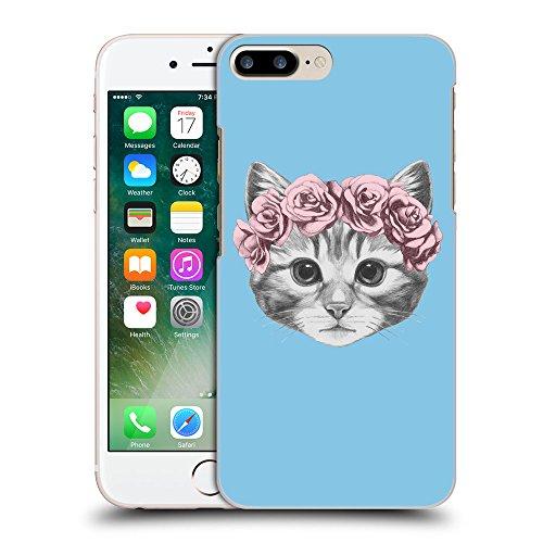 GoGoMobile Coque de Protection TPU Silicone Case pour // Q05020609 Fleur chat Bleu bébé // Apple iPhone 7 PLUS