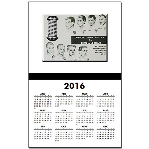 CafePress - Official Hair Styles Of The 50S - 2017 Calendar Print, One-Page Calendar Poster, Glossy 11
