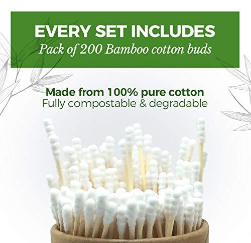 200 Bambuswattest/äbchen kein Abfall
