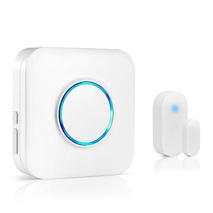 Hehui Expandable Wireless Door Open Chime Door Entry Alarm With