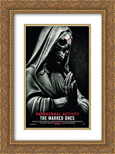 Paranormal Activity The Marked Ones 20x24 Double Matted Gold Ornate Framed Movie Poster Art Print by ArtDirect