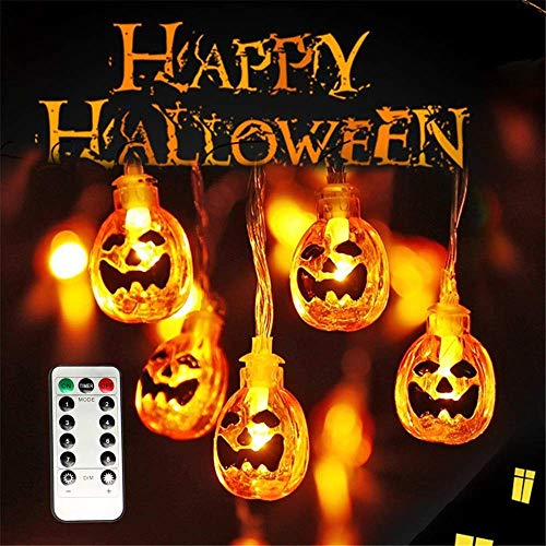 15 Led Halloween Pumpkin String Lights