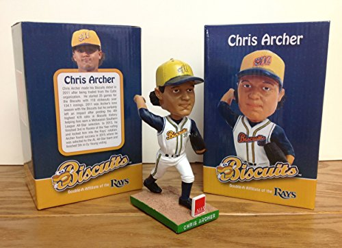 (Chris Archer Montgomery Biscuits Tampa Bay Rays Minor League STADIUM PROMO Bobblehead SGA)