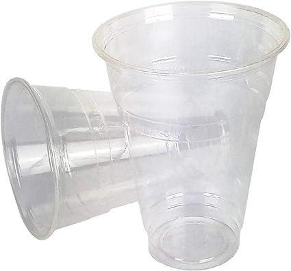 EUROFIDES® Vasos biodegradables (5 tamaños), color transparente ...