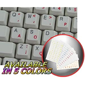 SVORAK KEYBOARD STICKERS WITH YELLOW LETTERING TRANSPARENT BACKGROUND FOR DESKTOP, LAPTOP AND NOTEBOOK 4KEYBOARD