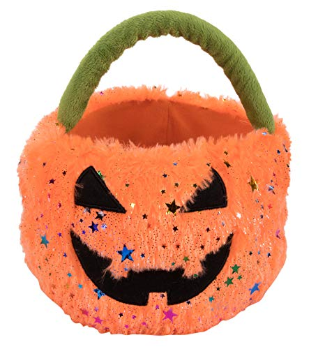 Cute Halloween Buckets - Halloween Trick-or-Treat Candy Bag - Plush