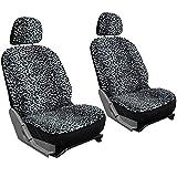 240sx bucket seats - Motorup America Low Back Bucket Auto Seat Cover 6pc Set - Fits Select Vehicles Car Truck Van SUV - Black & Gray Leopard Print