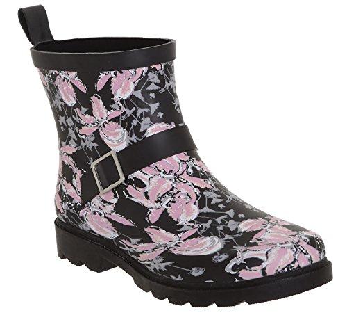 York Capelli Black Rain Boot Umbrella Printed New Ladies Short 15WwqxvSP5