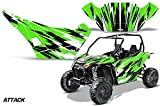 AMRRACING Arctic Cat Wildcat Sport Limited Full Custom UTV Graphics Decal Kit Attack Green