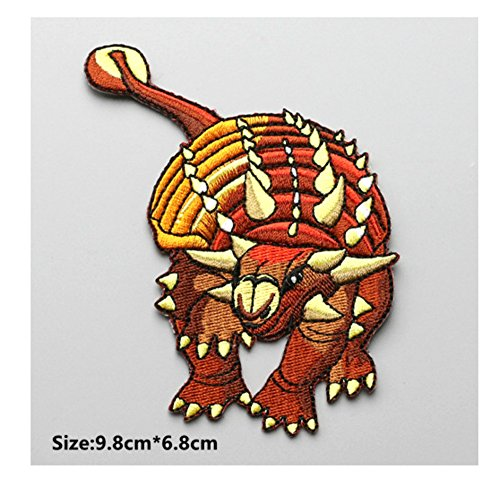 ANKYLOSAURUS Dinosaur Patch Jurassic World Fallen Kingdom Dinosaur Theme Park Logo Series New 2018 Movies Embroidered Sew/Iron on Badge DIY Appliques