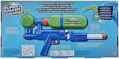 Teens Removable Tank Air-Pressurised Continuous Blast Nerf Super Soaker XP100 Water Blaster For Kids Adults
