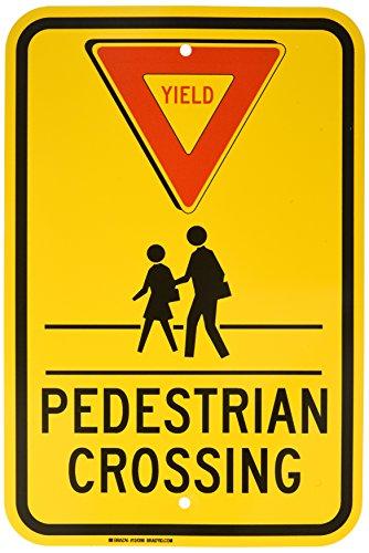 Crosswalk Sign - Brady 124398 Traffic Control Sign, Legend