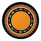 Creative Converting 8 Count Round Banquet Plates, Fiesta Grande