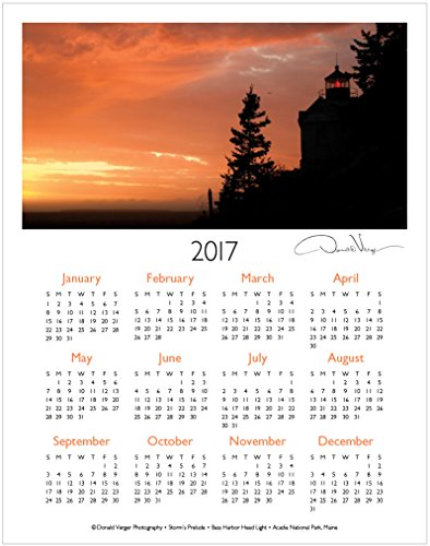 Art Calendar Maine : Professional weekly planner acadia green
