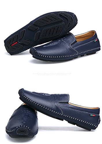 Blue Guida Lumino Man Uomo Brief Mocassini Buty uomo Flat Casual On Shoes Mocassini da Men R1Xq7