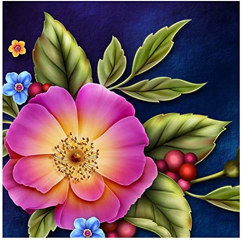 Full Drill Diamond Painting Kit Like Cross Stitch Fresh Flowers Floral ZB002F