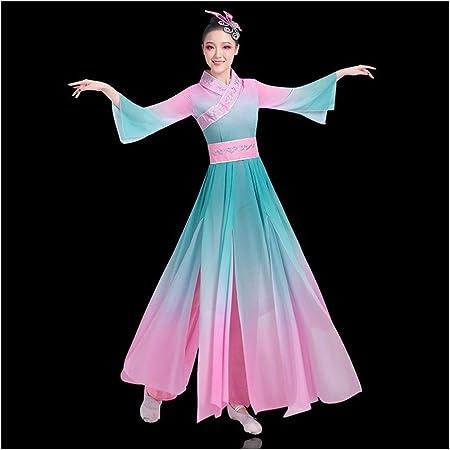 Traje Hanfu Vestido Chino Coro Nacional De Danza Clásica Canción ...