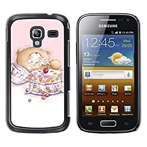 Impact Case Cover with Art Pattern Designs FOR Samsung Galaxy Ace 2 Cute Teddy Bear Cake Betty shop