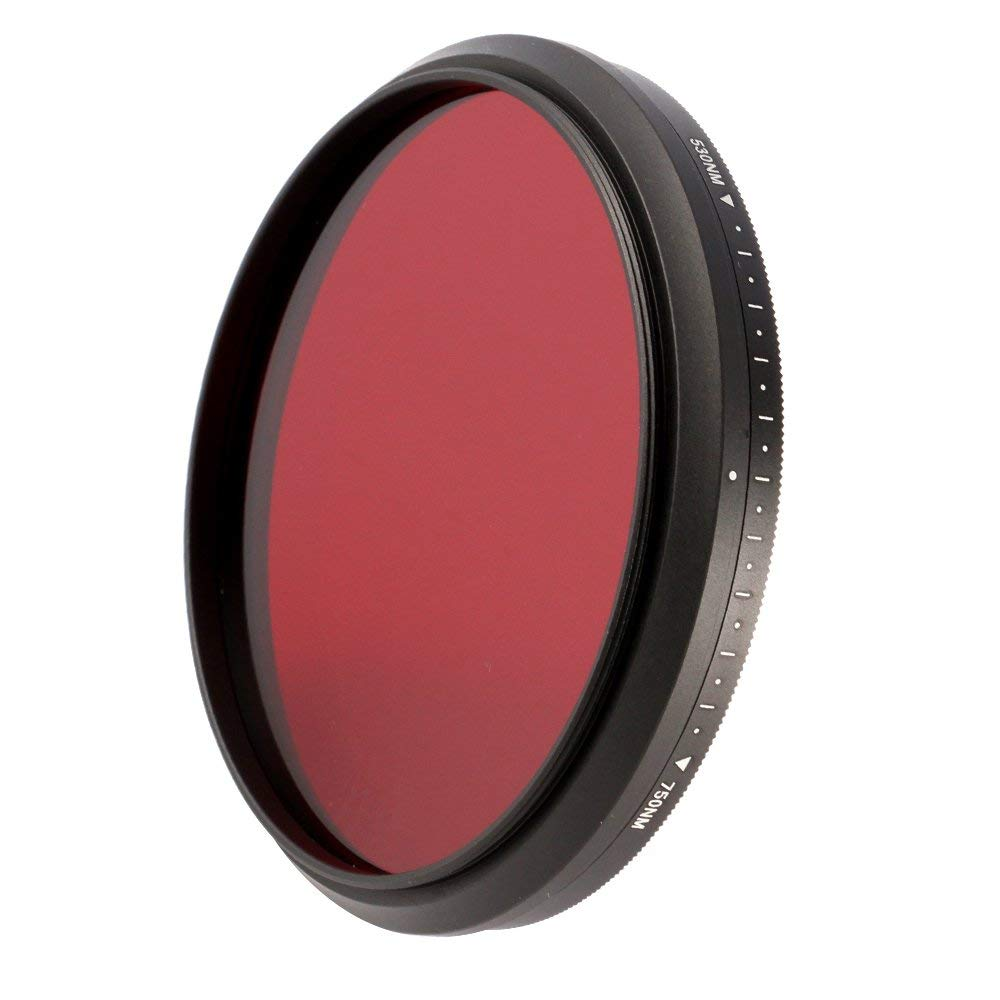 Runshuangyu 55mm 6 in 1 Infrared IR Pass X-Ray Lens Filter, Adjustable 530nm to 750nm Screw-in Filter for Canon Nikon Sony Panasonic Fuji Kodak DSLR Camera by Runshuangyu