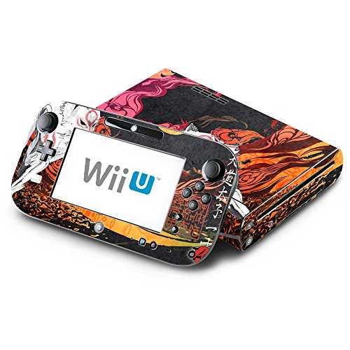 Okamiden Decorative Decal Cover Skin for Nintendo Wii U Console and GamePad