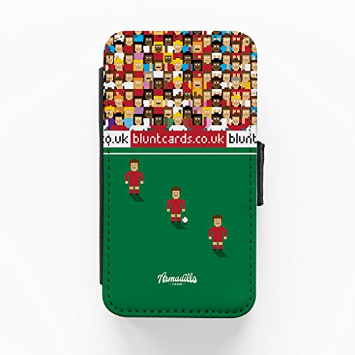 Liverpool 8bit Hochwertige PU-Lederimitat Hülle, Schutzhülle Hardcover Flip Case für iPhone 4 / 4s vom Blunt Football + wird mit KOSTENLOSER klarer Displayschutzfolie geliefert