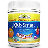 Nature's Way Kids Smart Omega 3 Fish Oil Trio 180 Caps, Nutrient for Growing Children Made in Australia with 1pcs Chinese Knot Gift
